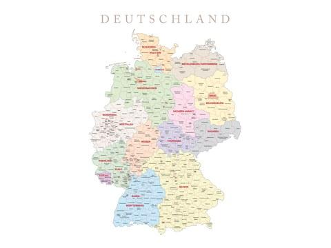 Carte d'Allemagne